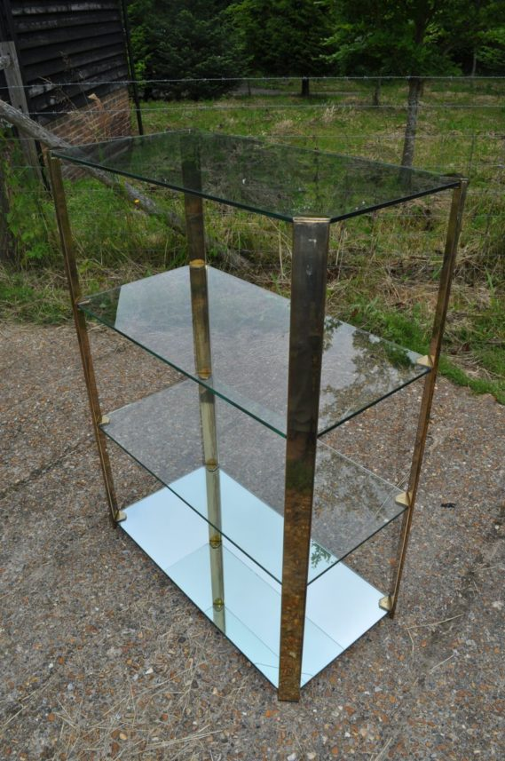 Continental brass/glass display stand