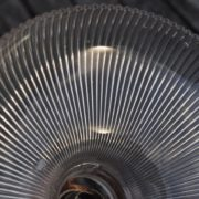 Ridged glass shade