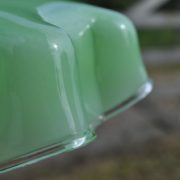 French green glass shade