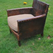 French leather armchairs