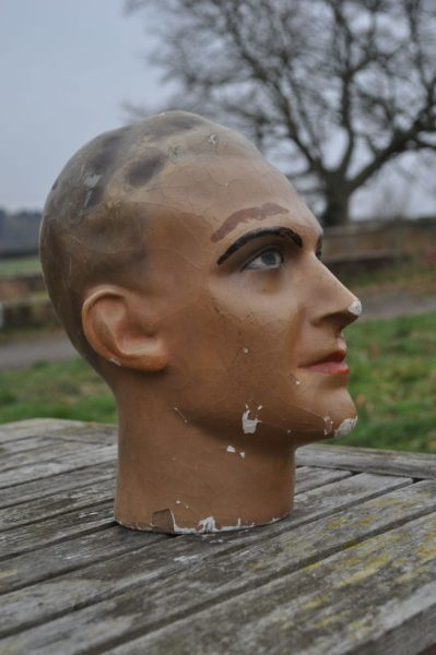 French shop display head