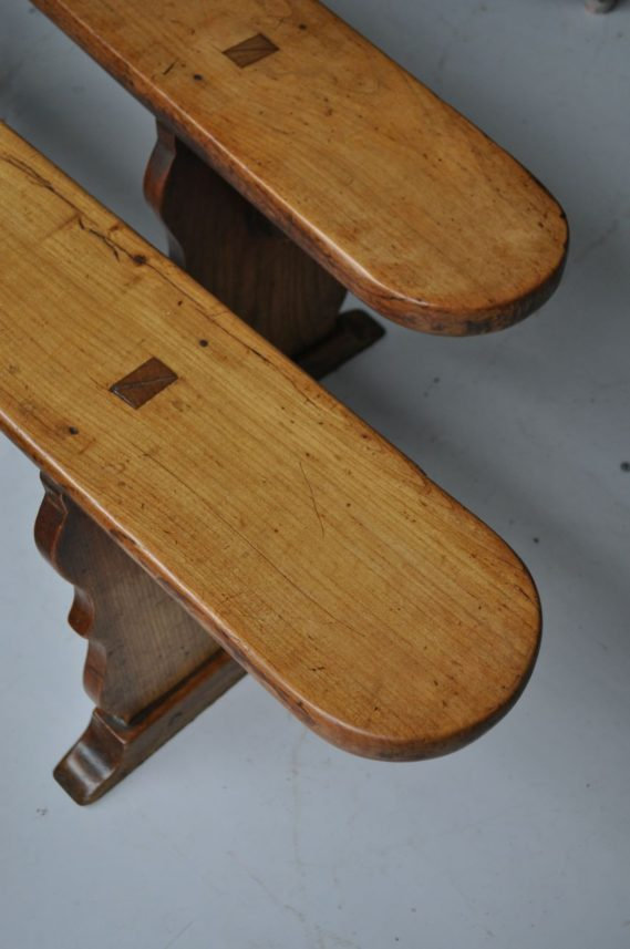 French cherry benches