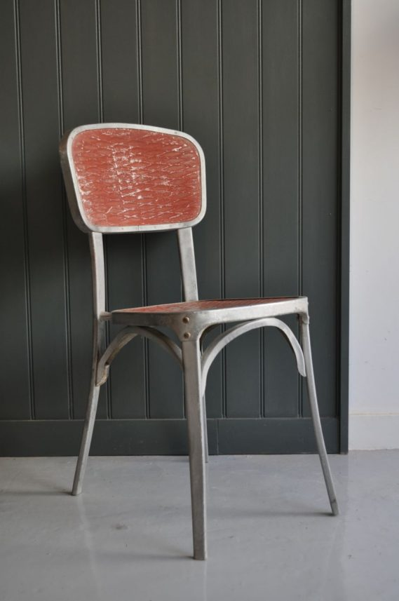 French aluminium chairs