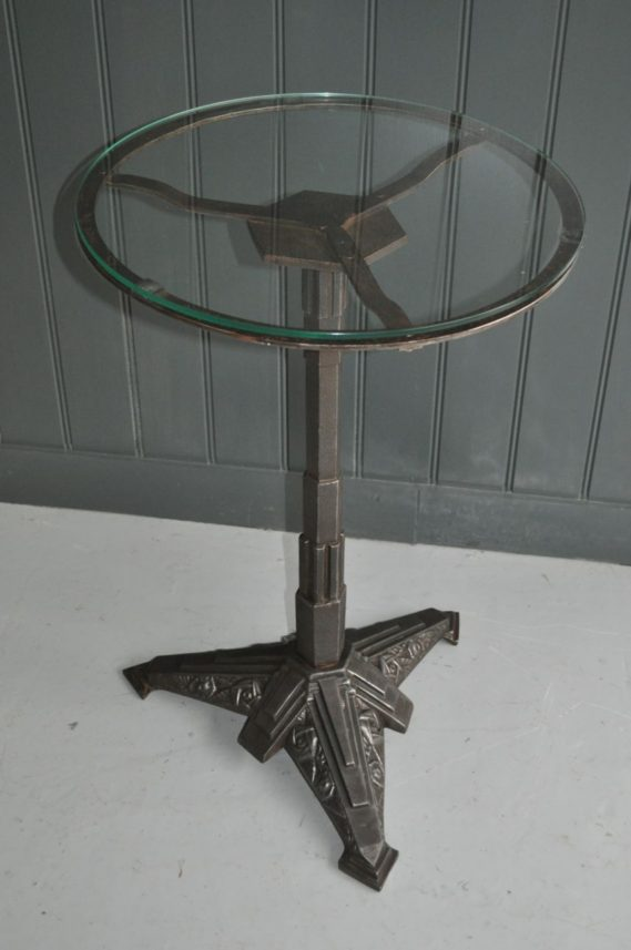 deco glass-topped table