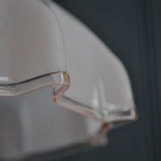 Pink glass pendant