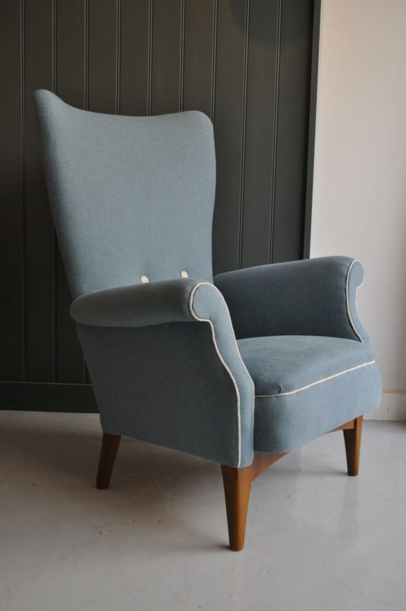 High-backed armchair