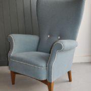 High-backed armchair