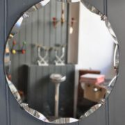 Small frameless mirror