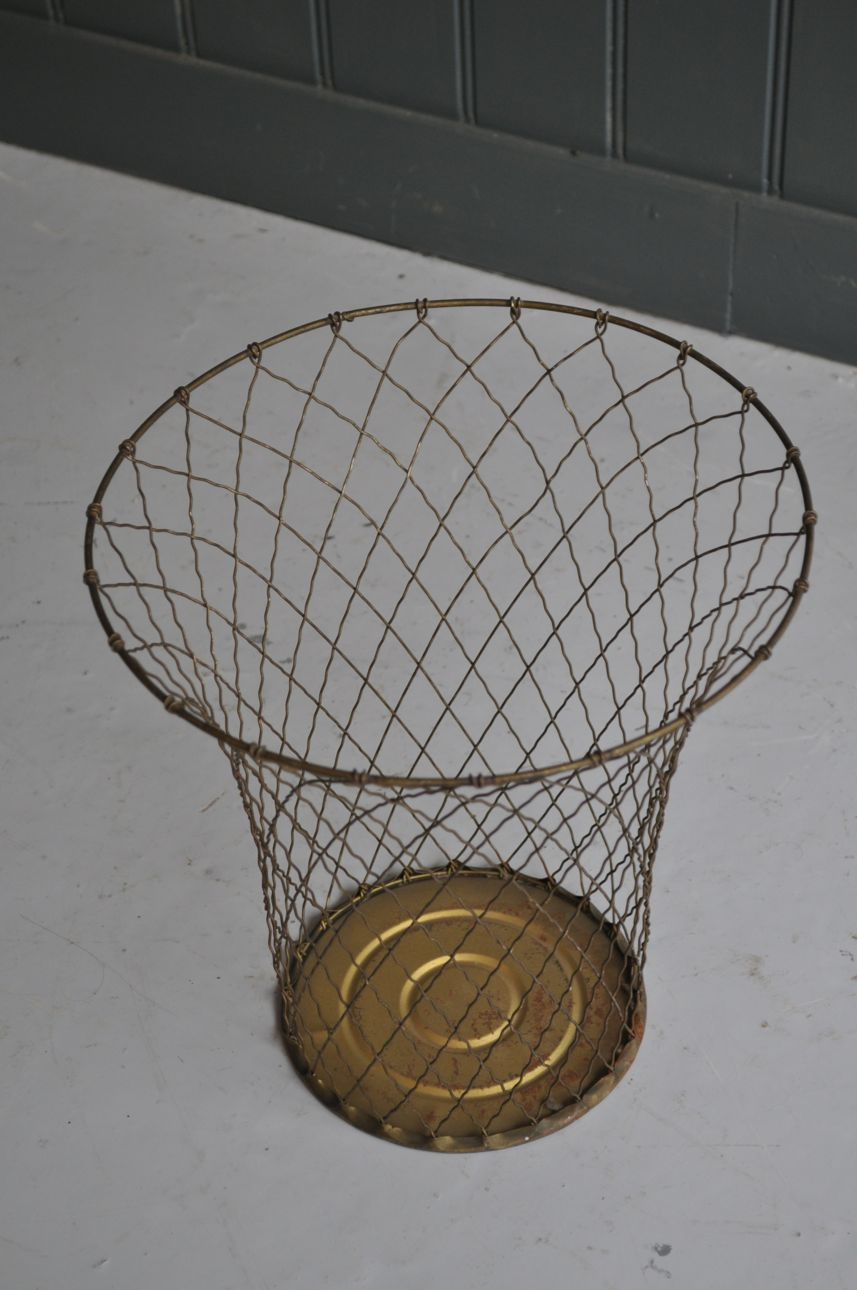 Wire Waste Paper Basket | French Wire Waste Basket B Southgate