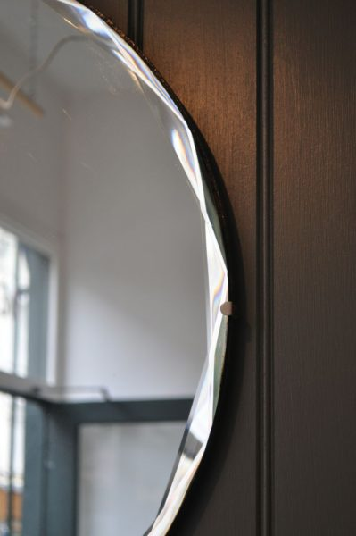 Large frameless mirror