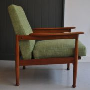 Pair teak chairs