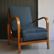 Pair oak Czech chairs