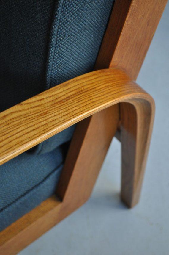 Pair oak Czech chairs