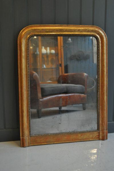 Foxed french mirror