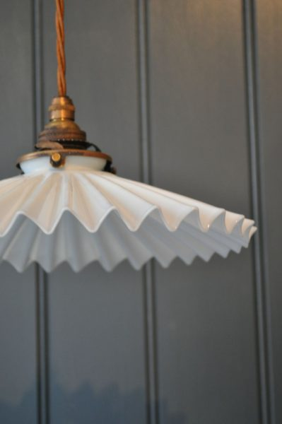Pleated French Pendant