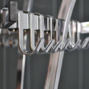 Belgian chrome coatstand