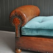 French leather daybed
