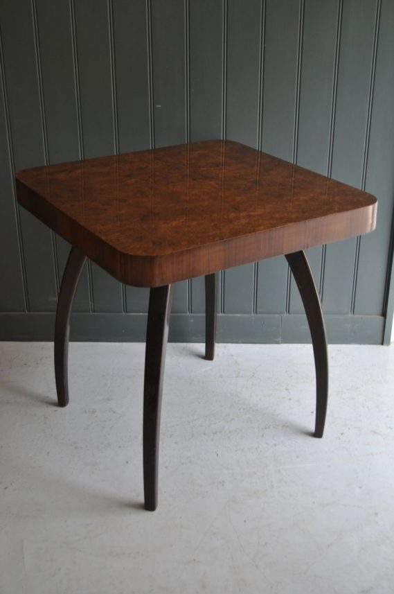 Burr walnut side table