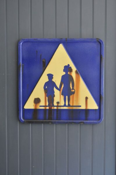 French enamelled sign