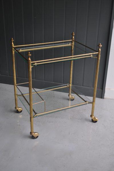 French brass drink's trolley