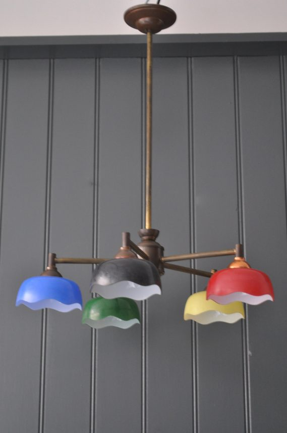 5-arm coloured lamp