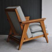 French oak armchair