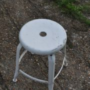 French metal stool