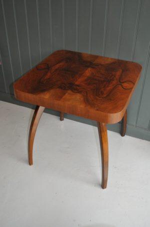 walnut spider table