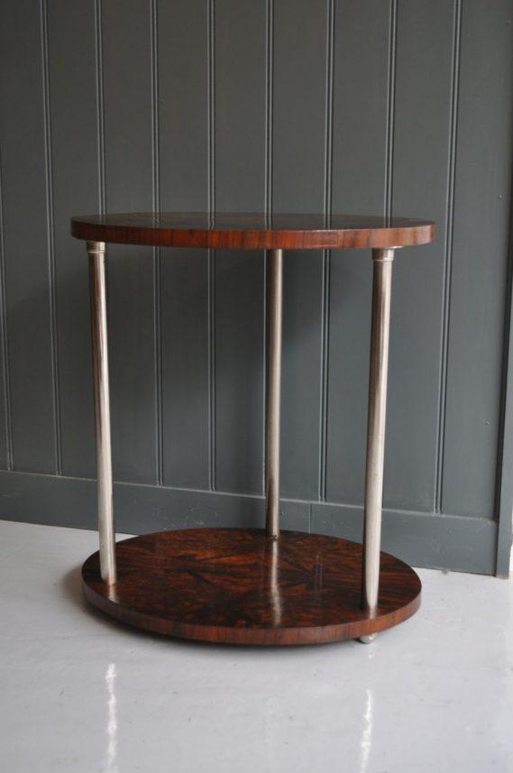walnut & chrome table