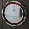 Red frameless mirror