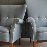 low-backed armchair