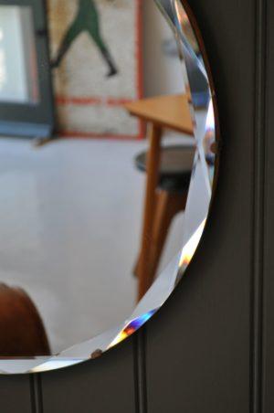 bevelled frameless mirror