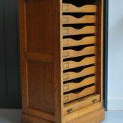 oak tambour cabinet