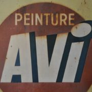 French paint sign