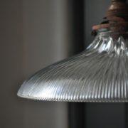 ridged glass pendant