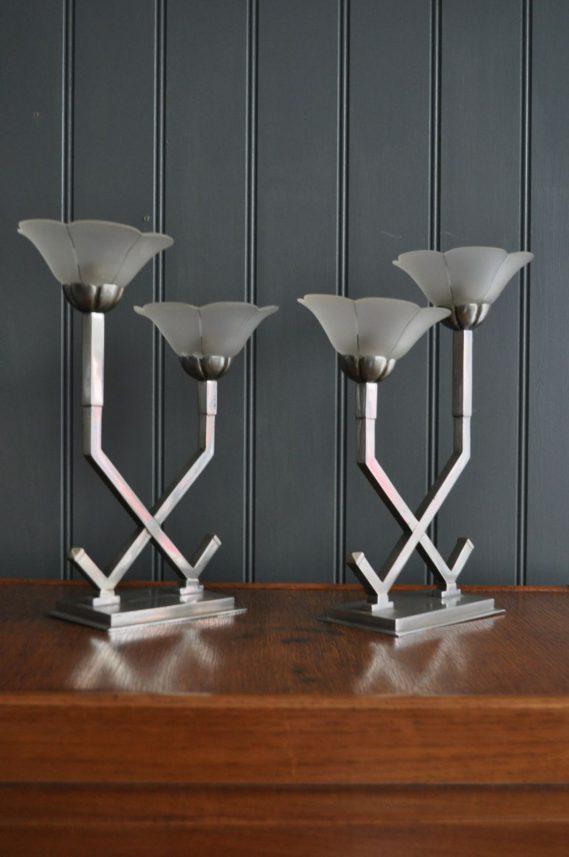 Pair deco lamps