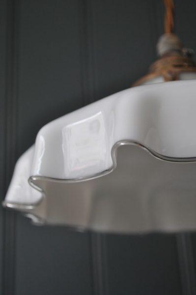 White handkerchief shade