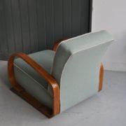 Steamed oak armchair