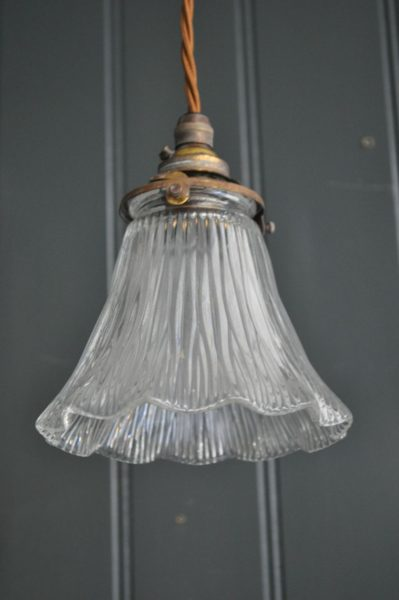 small glass shade