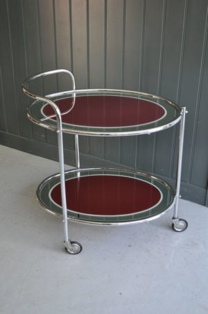 chrome drinks trolley