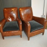 Pair of leather chairs