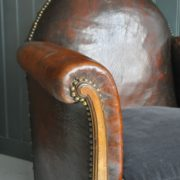 Gothic leather armchair