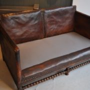 English leather sofa