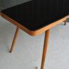 Black vitrolite table