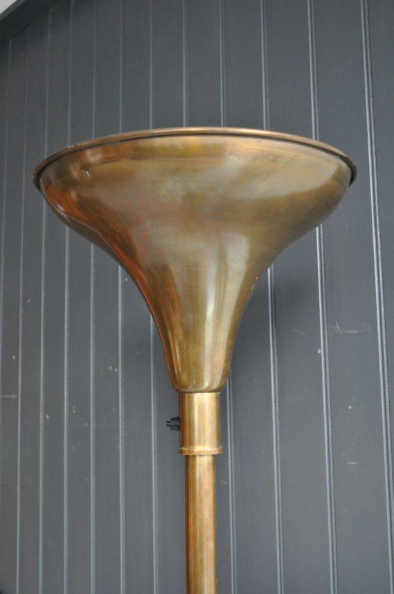French brass uplighter
