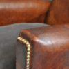 Pair French leather chairs