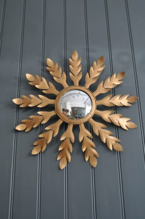 Metal sunburst mirror