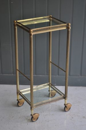 Brass 2-tier trolley
