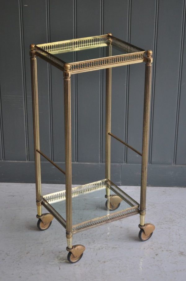 Brass 2-tier trolley