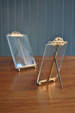 French brass photo frames
